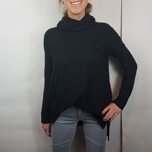 Bp black oversized turtleneck thermal top small
